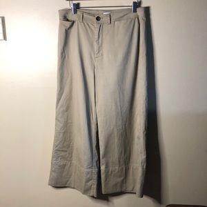 Madewell wide leg crop pants